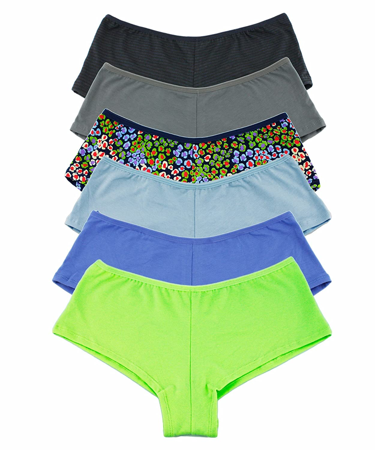 3483455d76 Package of 6 panties assorted prints. Trendy fashion prints