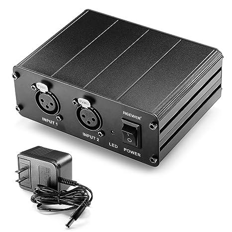 Neewer fuente de alimentación Phantom de 2 canales 48 V con ...