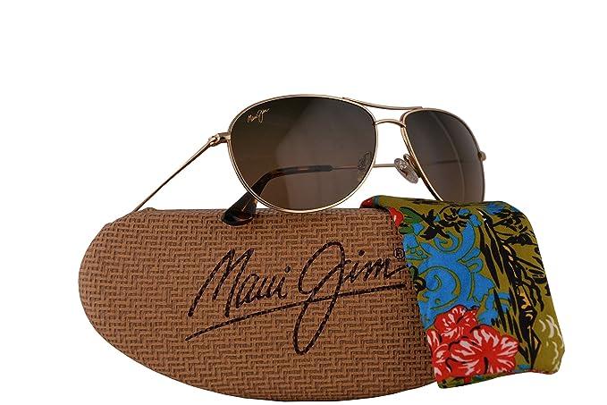 964e655106 Image Unavailable. Image not available for. Colour: Maui Jim Sea House  Sunglasses Gold w/Polarized Brown Lens MJ772-16