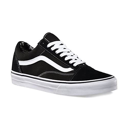 Vans Unisex Old Skool Skate Shoe Men, Black/White 5.5