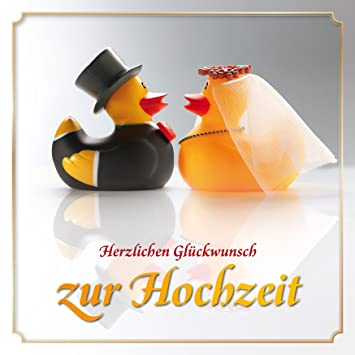 Lustige Enten Hochzeitskarte Mit Umschlag Witzige Gluckwunschkarte