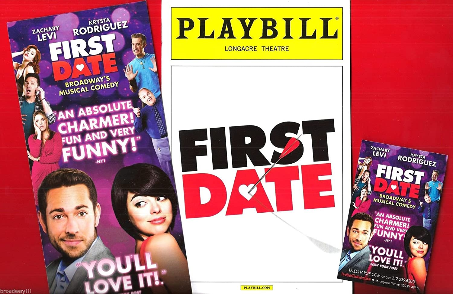 Krysta Rodriguez 'FIRST DATE' Zachary Levi 2013 Broadway Playbill and Flyers
