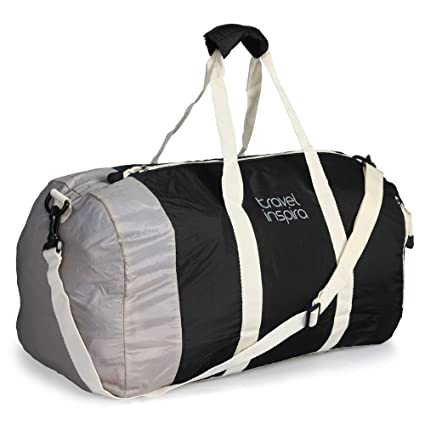 7ca4a6cc5 Amazon.com: travel inspira Foldable Duffel Travel Duffle Bag Collapsible  Packable Lightweight Sport Gym Bag: Sports & Outdoors