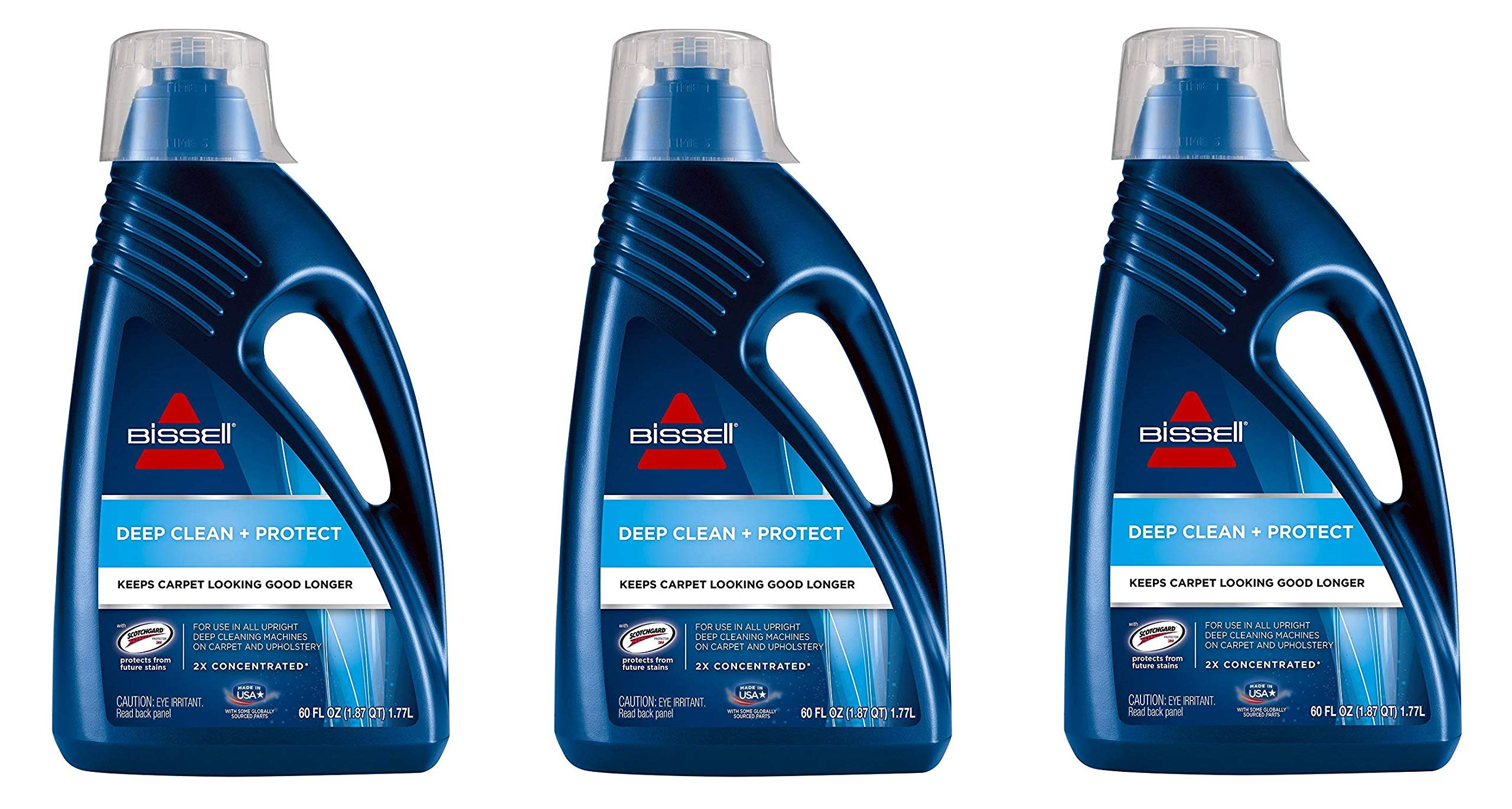 Bissell 62E5A 2X Concentrated Deep Clean & Protect Full Size Machine Formula, 60 Ounces (Тhree Pаck)