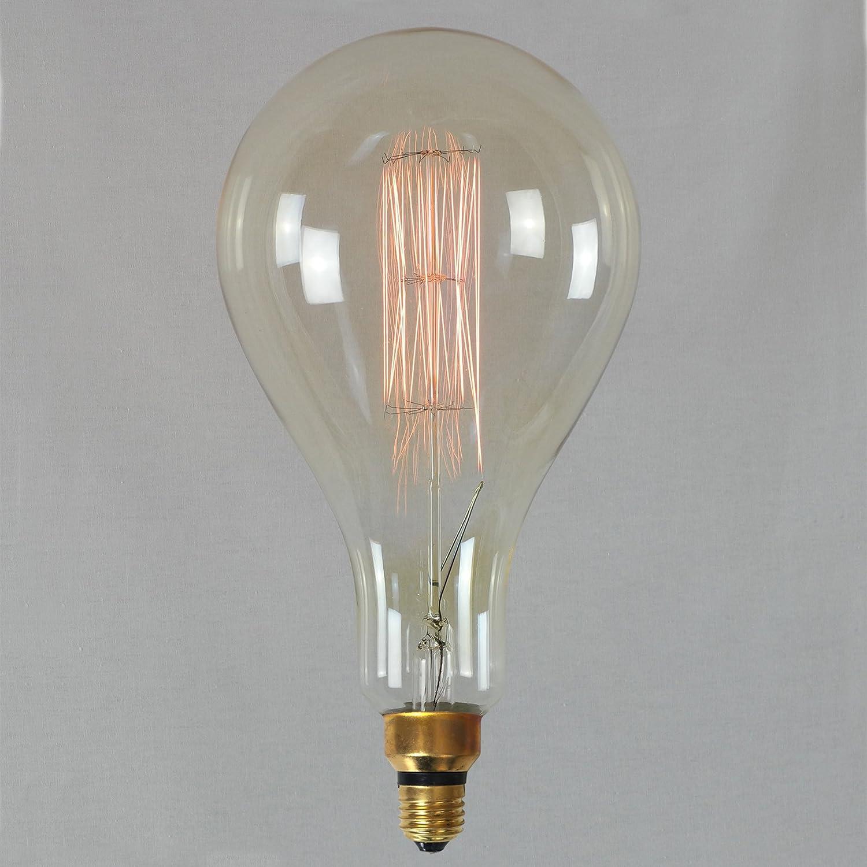 Giant Light Bulb Lamp Vintage Edison Light Bulb 60w Xxl Giant Squirrel Cage 16x30cm