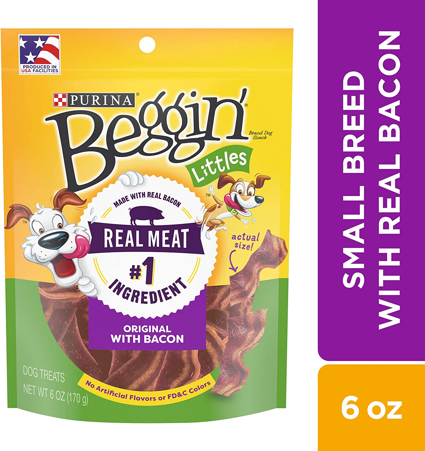 Purina Beggin Littles Bacon Flavor Adult Dog Treats