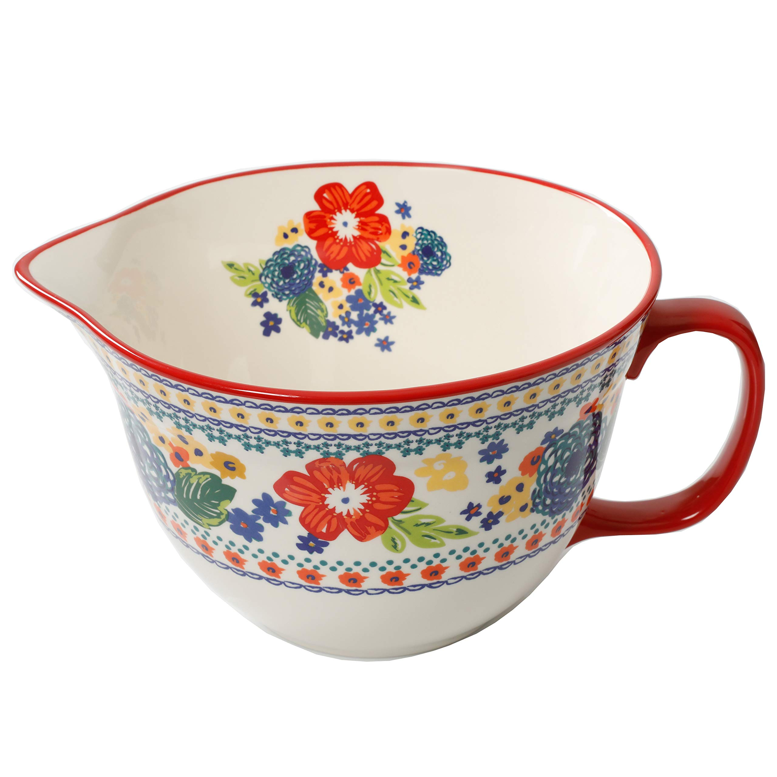 The Pioneer Woman 3.3 Quart Dazzling Dahlias Batter Bowl, 1-Piece bundle with The Pioneer Woman 2-Piece Rectangular Ruffle Top Ceramic Bakeware Set'' by The Pioneer Woman (Image #2)
