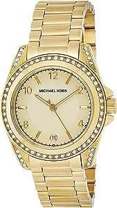 Michael Kors Womens Quartz Watch, Analog Display and Stainless Steel Strap MK5334