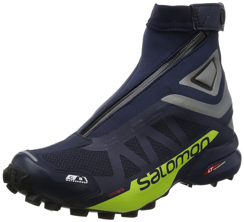 Salomon Snowcross 2 CSWP, Zapatillas de Senderismo para Hombre 40 2/3 EU|Azul (Navy Blazer/Reflective Silver/Lime)