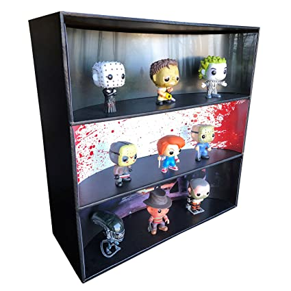 Amazon Com 1 Display Geek Stackable Toy Shelf For 4 In Vinyl