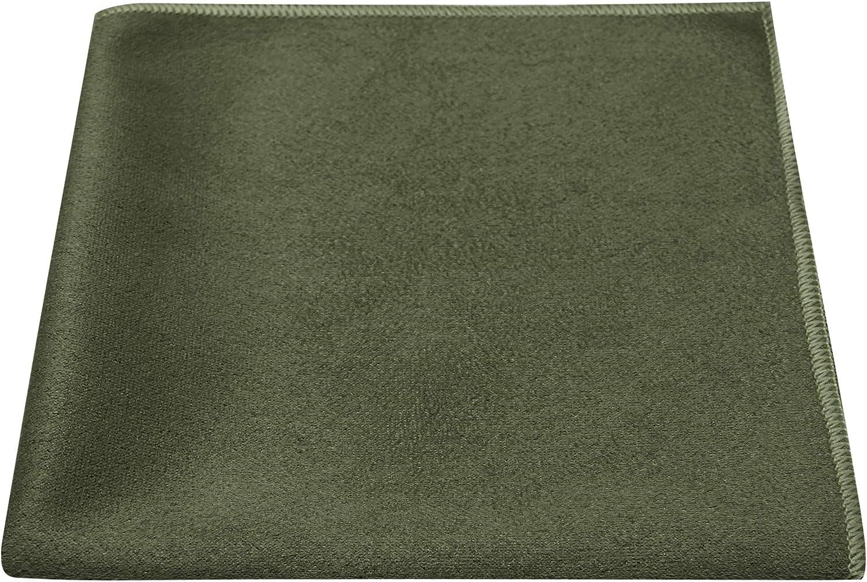 Luxury Dark Olive Green Suede Tie Moleskin