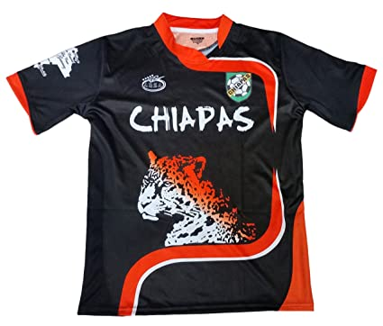 0be08e516ebbf Amazon.com: Chiapas Mexico Soccer Jersey Color Black Arza Design ...