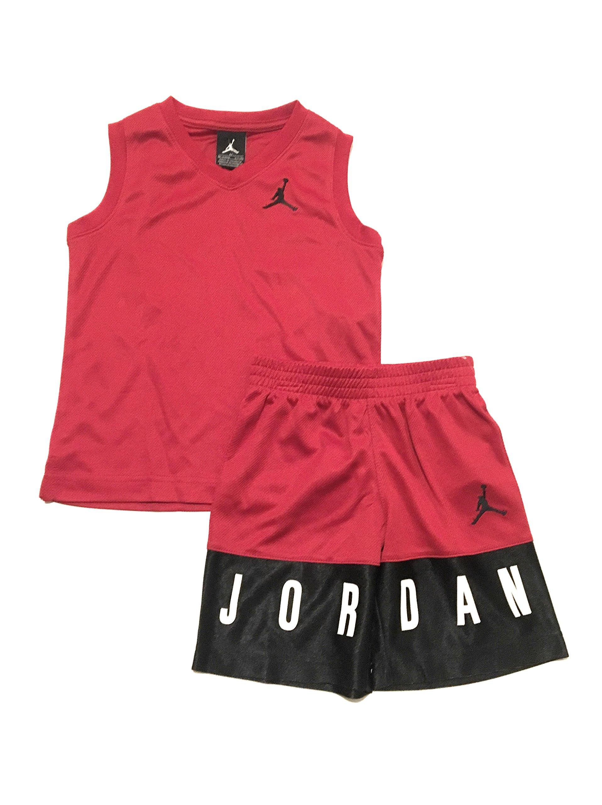 Jordan Jumpman 23 Logo Tank Top and Shorts Set, Gym Red, 4T