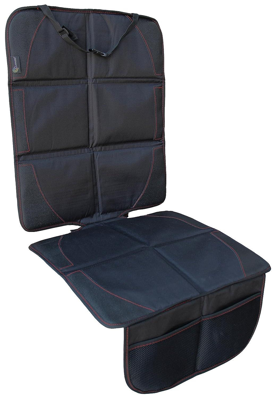 Autositzauflage SUPTEMPO Isofix geeignete Kindersitzunterlage wasserabweisend Auto-Kindersitzunterlage Autositzschutz mit 2 Aufbewahrungstaschen