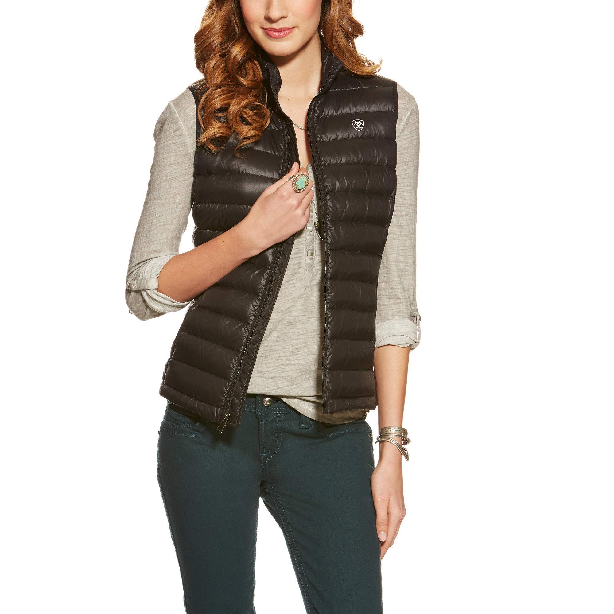 Ariat Women's Ideal Down Vest, Black, X-Large by ARIAT