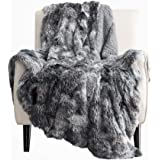 Bedsure Soft Fuzzy Faux Fur Shaggy Blanket Throw Reversible Sherpa Fleece Shag Throw Blanket for Sofa, Couch and Bed…