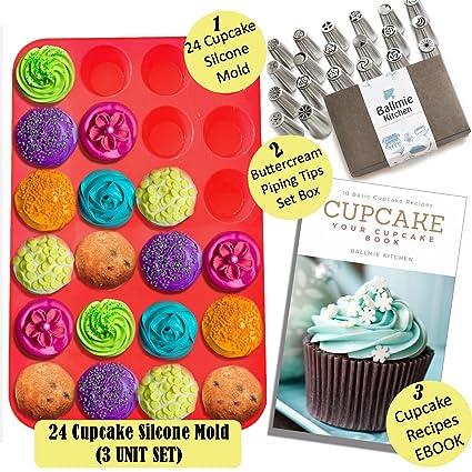 Buy Ballmie Baking Cupcake Muffin 24 Cupcake Mold Set