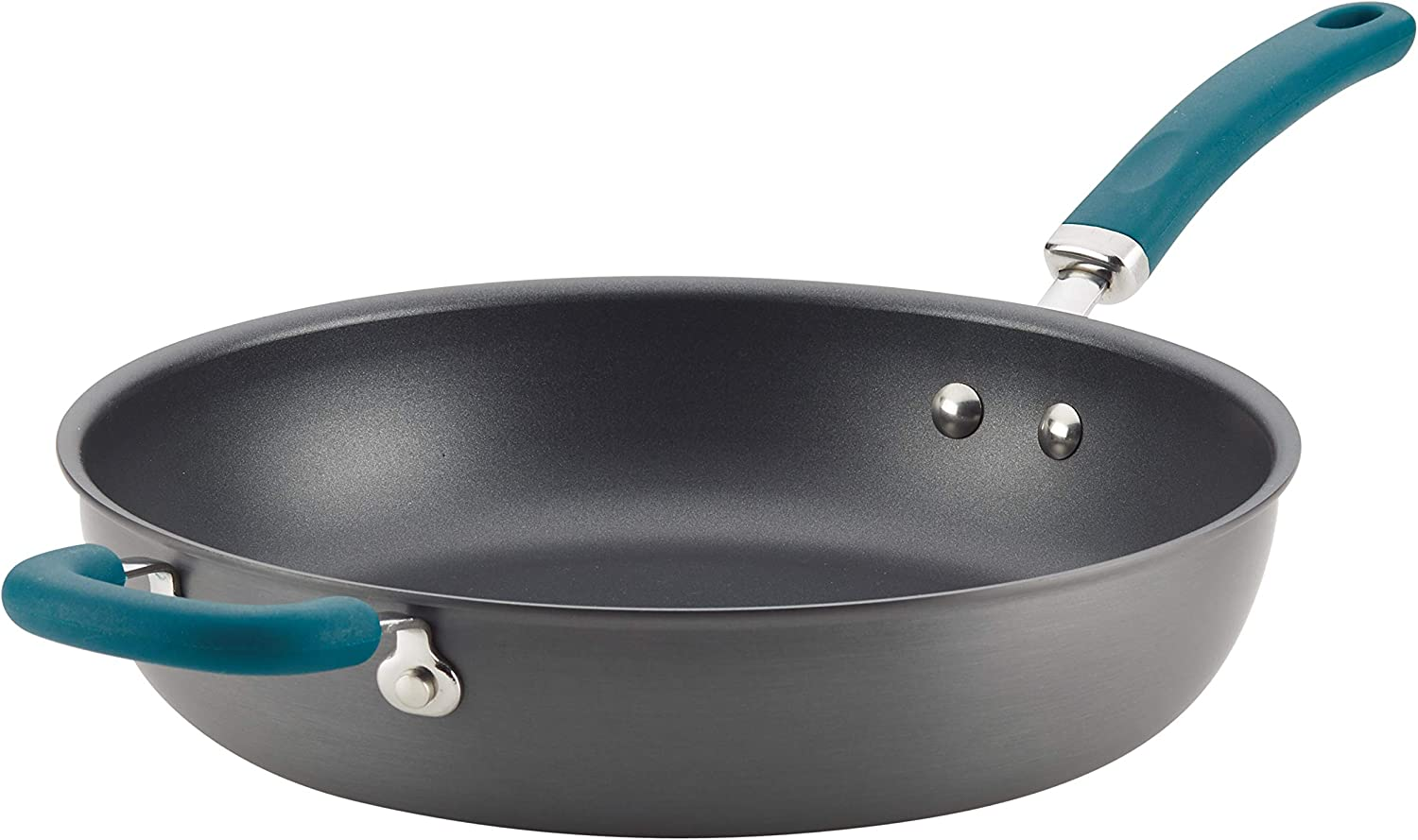 Rachael Ray 81130 Create Delicious Deep Hard Anodized Nonstick Frying Pan / Fry Pan / Hard Anodized Skillet - 12.5 Inch, Gray