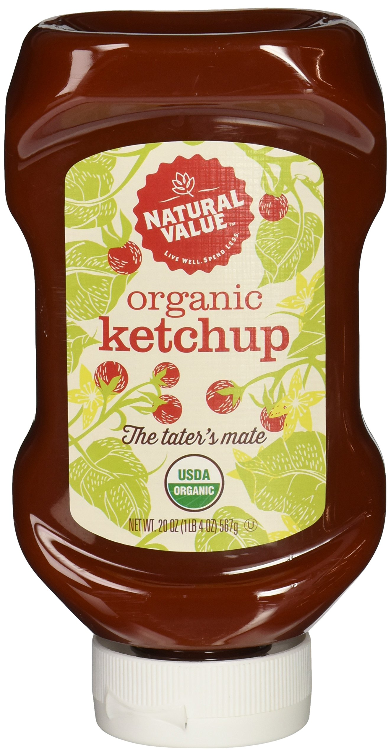 Natural Value Organic Ketchup, 20 Ounce (Pack of 12)