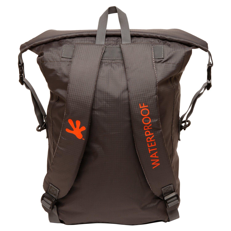 geckobrands Waterproof 30L Lightweight Backpack Grey//Orange
