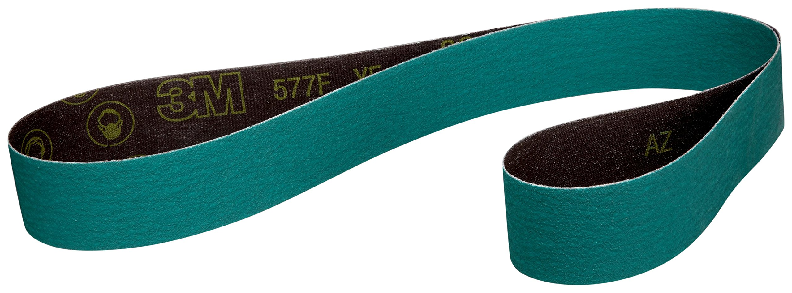 3M Cloth Belt 70890-case 577F, 2'' x 72'' 36 YF-Weight, Alumina Zirconia, Green (Pack of 50) by 3M