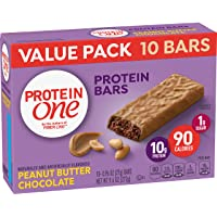 Protein One 90 Calorie, Peanut Butter Chocolate, 10bars/pack , (pack of 6)