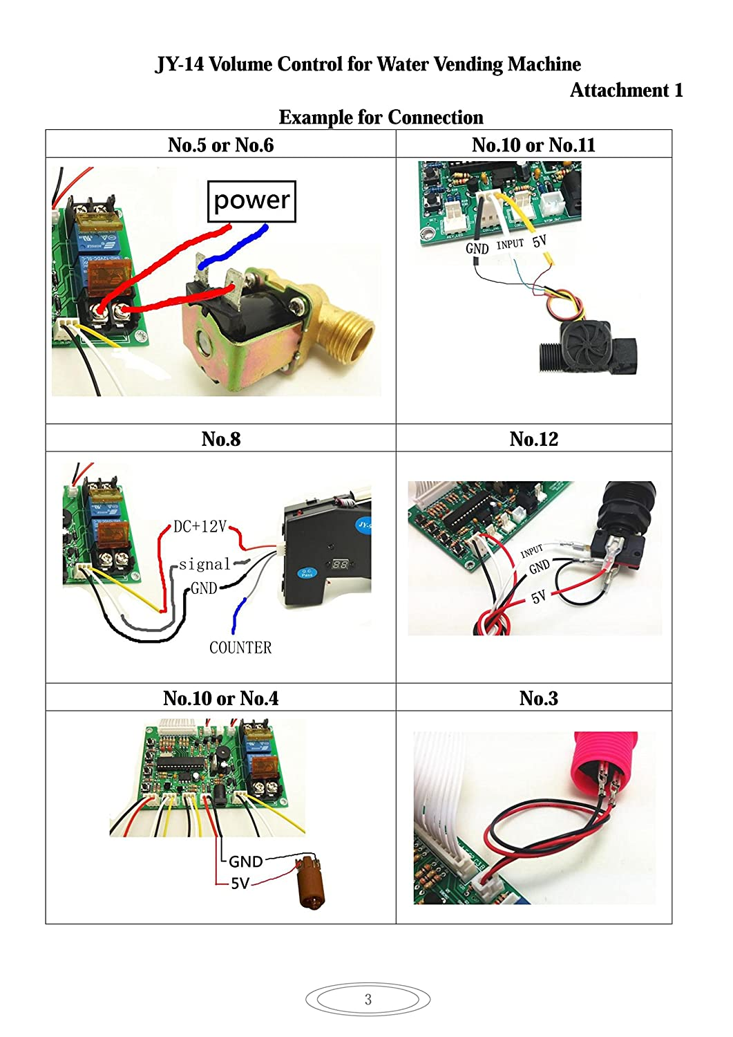 Jy Juyao Electronic Volume Control Board For Water Vending Machine Wiring Diagram Counting Part Coin Change Type