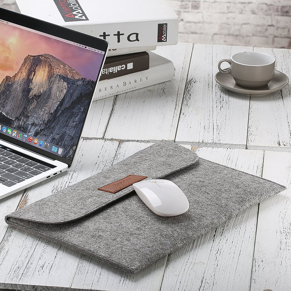 12.9 Inch iPad Pro Case Grey EasyAcc Macbook Air 13.3 Inch Felt Sleeve Ultrabook Laptop Case for 13 Inch MacBook Pro//Macbook Air 13 Pro Retina