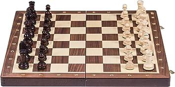 Square - Ajedrez de Madera Nº 4 - Nogal - Tablero de ajedrez + ...