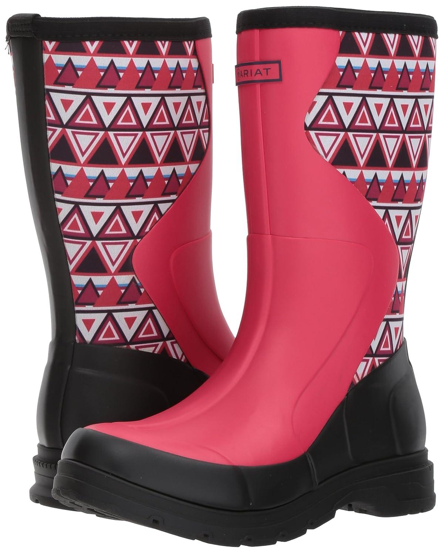 Ariat Women's Springfield Rubber Work Boot B01MSD0U1F 5.5 B / Medium(Width)|Hot Pink