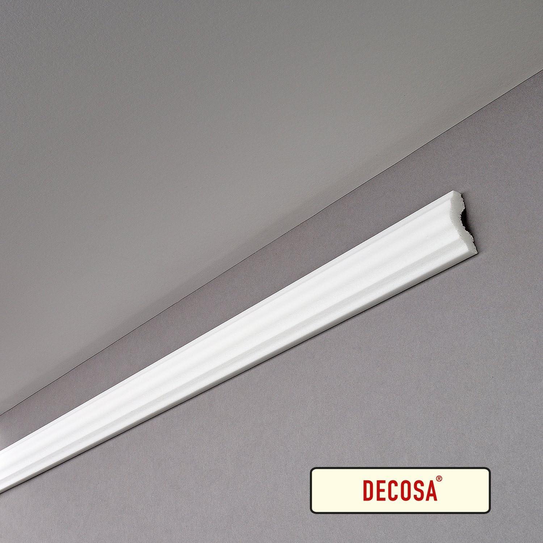 wei/ß DECOSA Flachprofil I40 SANDRA 10 Leisten /à 2 m L/änge 40 mm