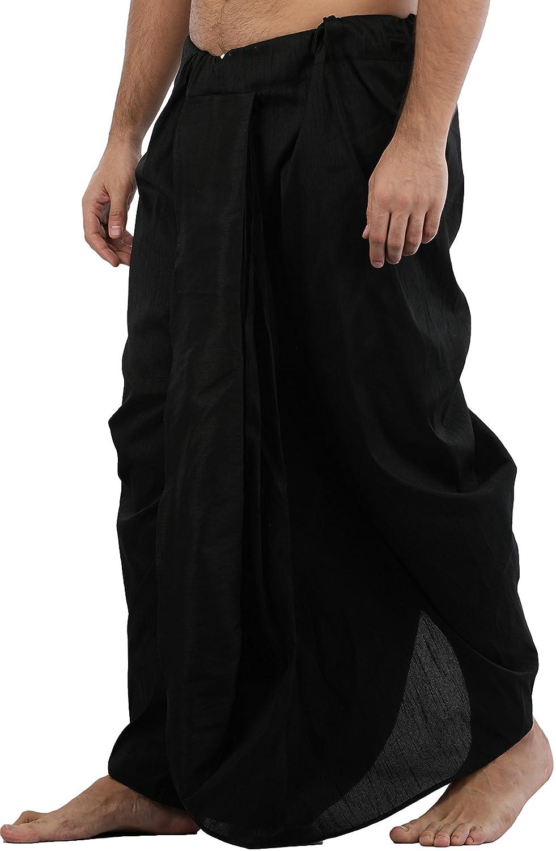 Maenner-Dhoti-Dupion-Silk-Plain-handgefertigt-fuer-Pooja-Casual-Hochzeit-Wear Indexbild 36