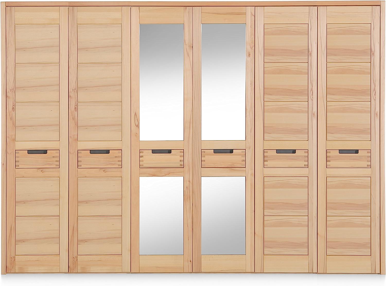 Firstloft Kleiderschrank Holz Natur Amazon De Kuche Haushalt
