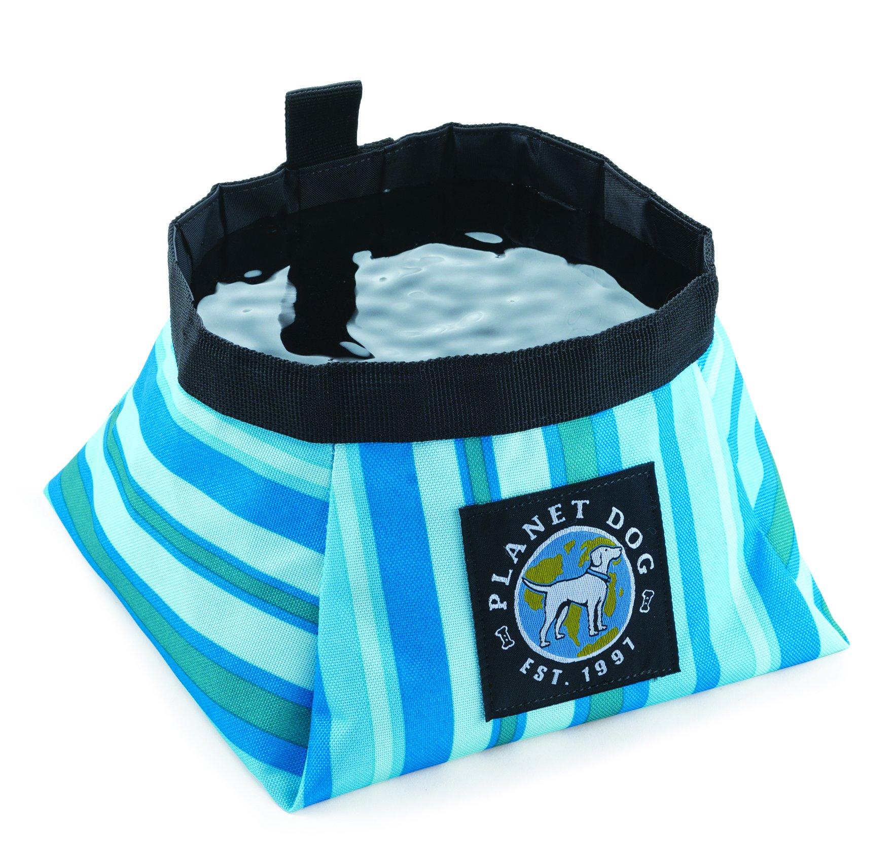 Planet Dog Travel Bowl, Large, Seaside Blue by Planet Dog