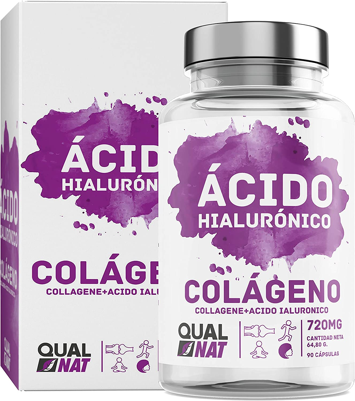 Colágeno Marino con Ácido Hialurónico Cápsulas | Vitamina C| Para Una Piel Radiante y Un Buen Mantenimiento de las Articulaciones – 90 Cápsulas - Qualnat: Amazon.es: Salud y cuidado personal