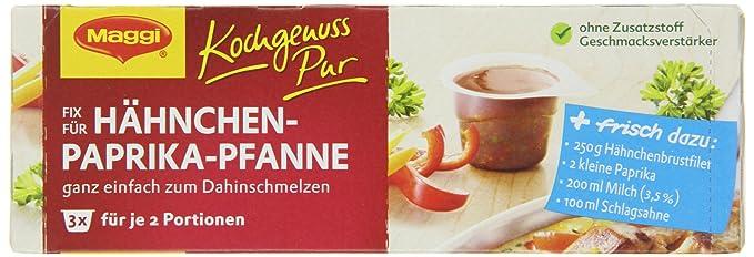 Amazon.com : Maggi Kochgenuss Pur Fix Hähnchen-Paprika-Pfanne : Grocery & Gourmet Food
