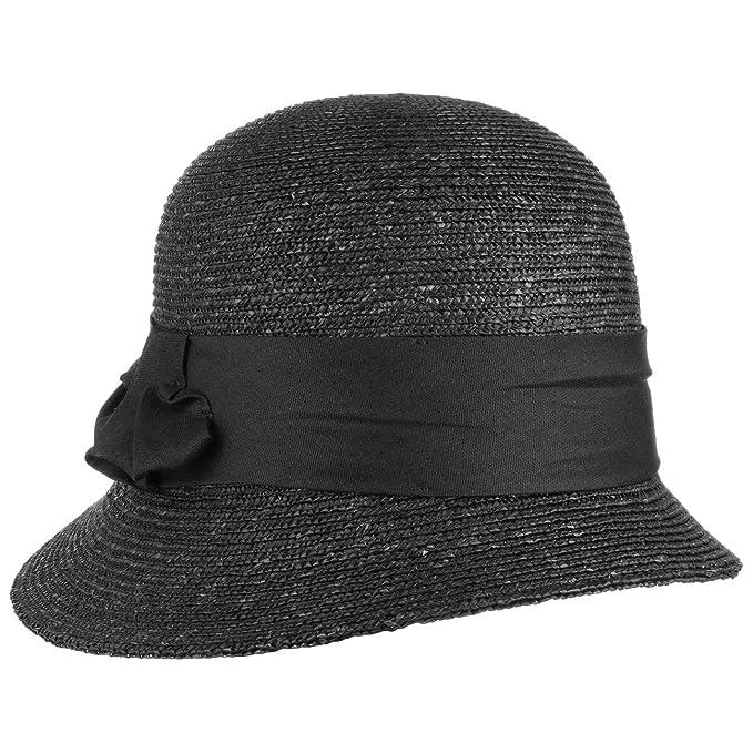 ea64f013ac6d0 Sombrero Cloche Maria by Seeberger (One Size - negro)  Amazon.es ...
