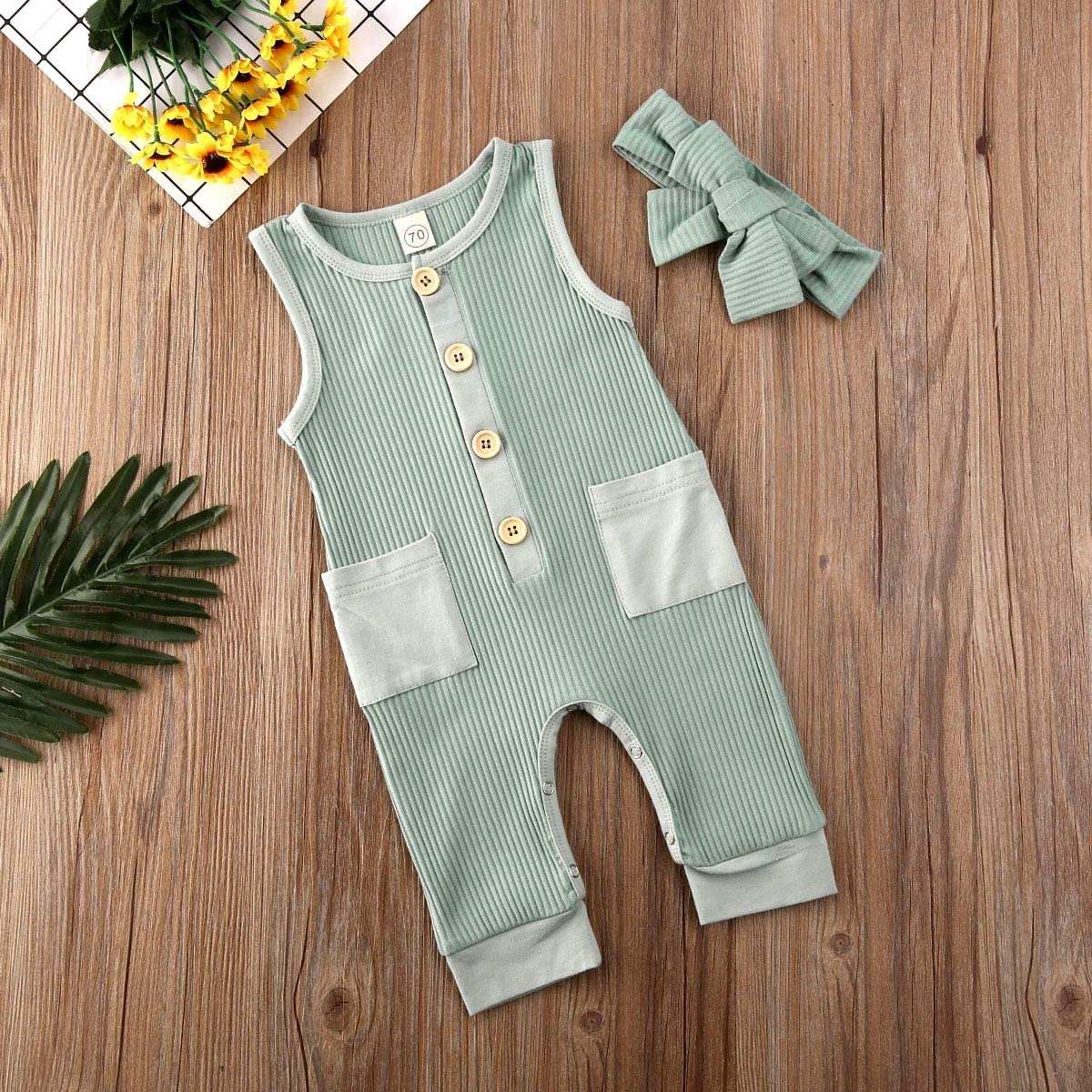 iddolaka Newborn Summer Baby Boy Girl Romper Bodysuit Jumpsuit Playsuit One Piece Outfit Clothes