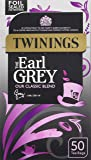 Twinings The Earl Grey 50 Tea Bags (Pack of 4, total 200 Tea Bags)