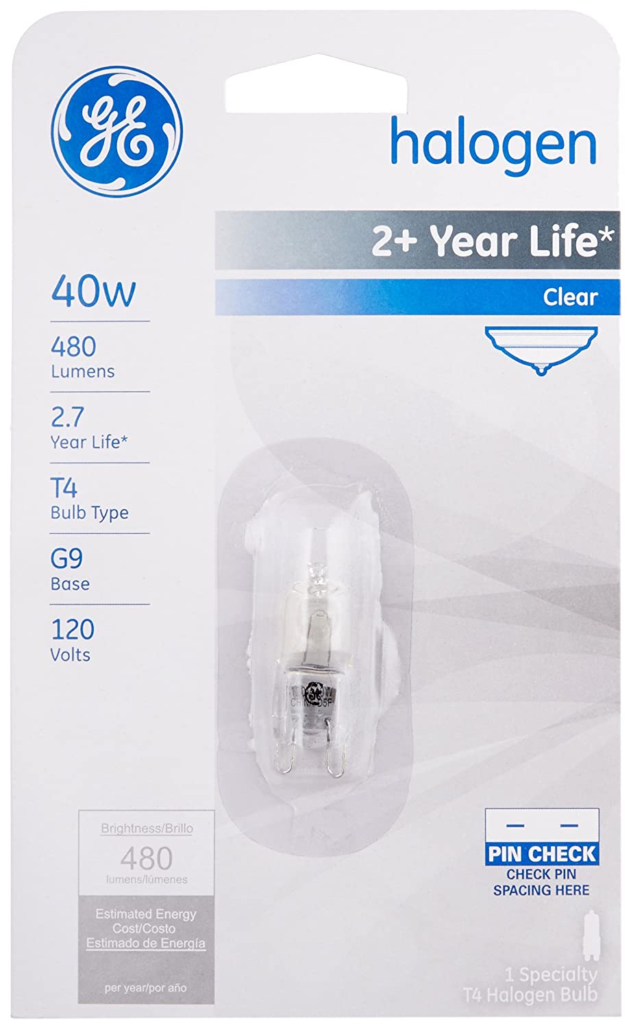 GE Lighting 16755 40-Watt Halogen Low Voltage Lighting G9 Light Bulb, 1-Pack - - Amazon.com