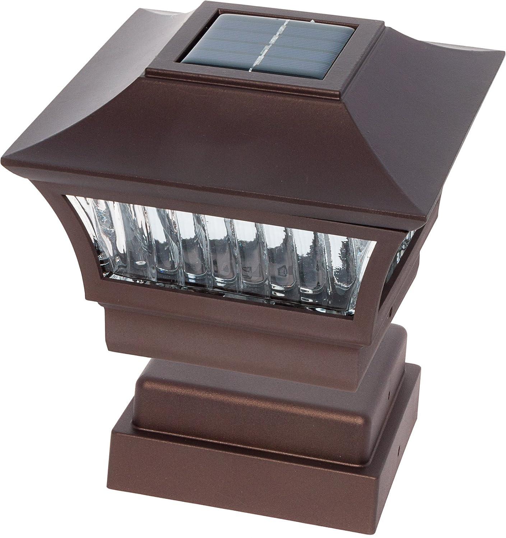 GreenLighting Bronze Aluminum 4x4 Solar Post Cap Light 4 Pack Wood//PVC Posts