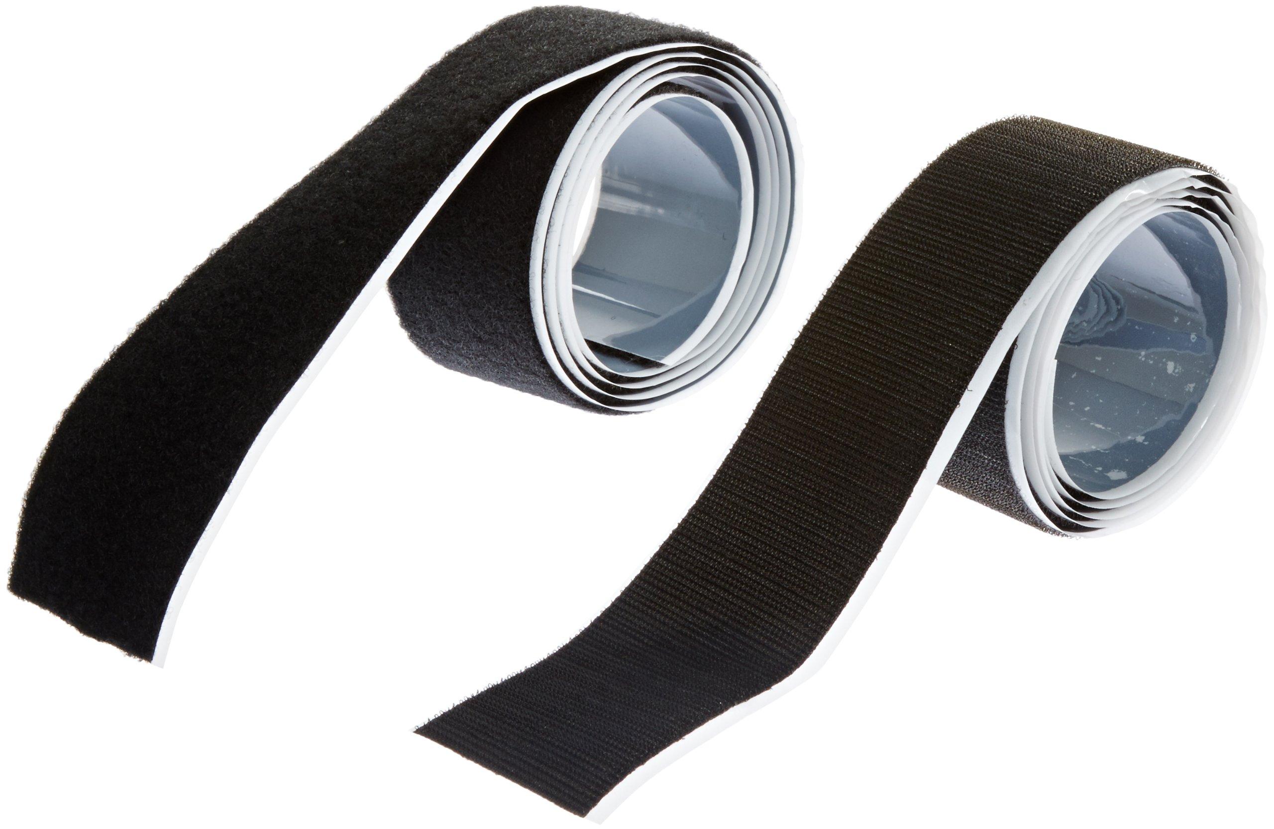 VELCRO 3806-SAT-PSA/B Black Super Adhesive Nylon Hook and Loop Combo Pack, 0132 Adhesive Backed, 2'' Wide, 5' Length