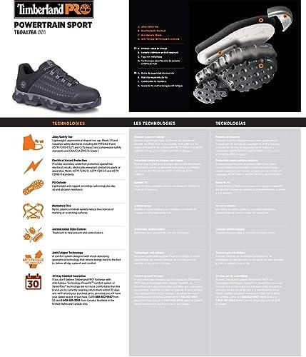 7b8fb3d2c31cfc Scarpa da uomo industriale Powertrain Sport Alloy Toe EH, nera sintetica /  arancione, 8,5 W US: Amazon.it: Scarpe e borse