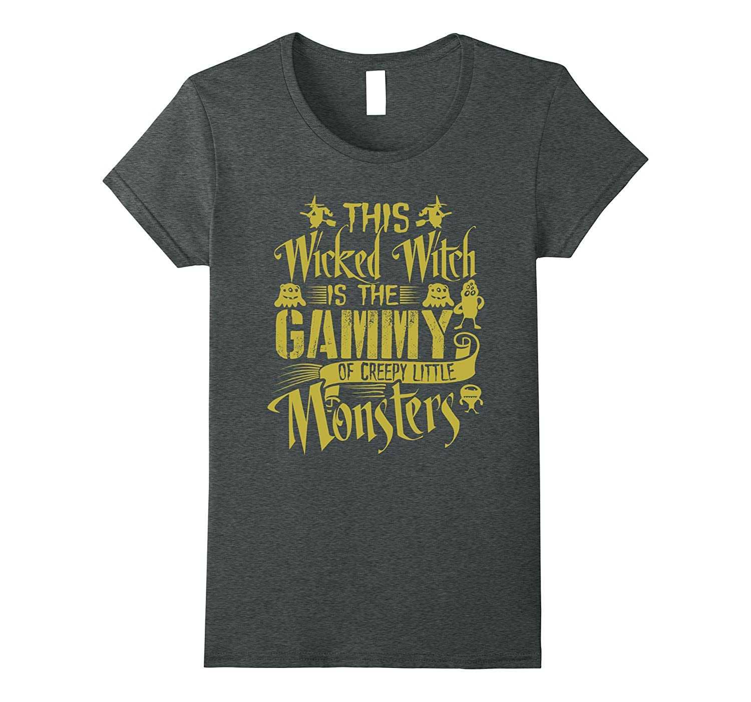 Womens This Witch Is The Gammy Of Creepy Monsters Funny T Shirt-ln