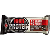 Musashi High Protein Low Carb Cookies and Cream Bar, 12 x 90 Grams