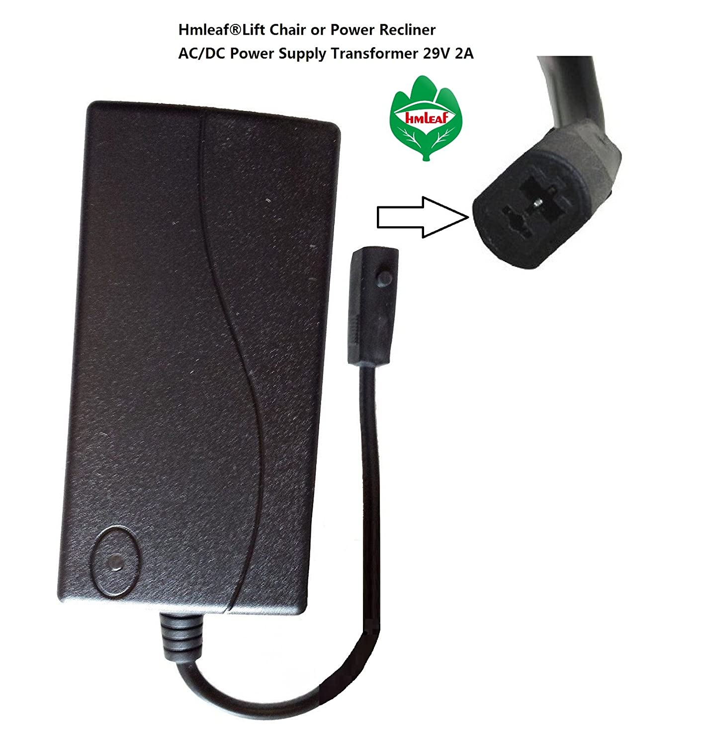 Amazon.com Hmleaf Lift Chair or Power Recliner AC/DC Switching Power Supply Transformer 29V 2A+6 feet SP2-B Power Wall Cord Kitchen u0026 Dining  sc 1 st  Amazon.com & Amazon.com: Hmleaf Lift Chair or Power Recliner AC/DC Switching ...