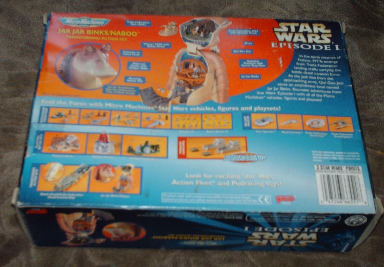 Star Wars Episode I Micromachines Jar Jar Binks//Naboo Transforming Action Set Galoob 66550