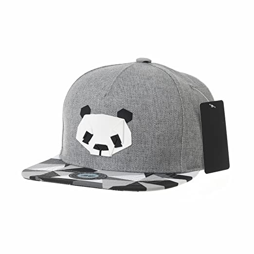 4e808b6439d WITHMOONS Snapback Hat Panda Bear Paper Fold Patch Geometry Pattern Flat  Brim Cotton Baseball Cap TR2935
