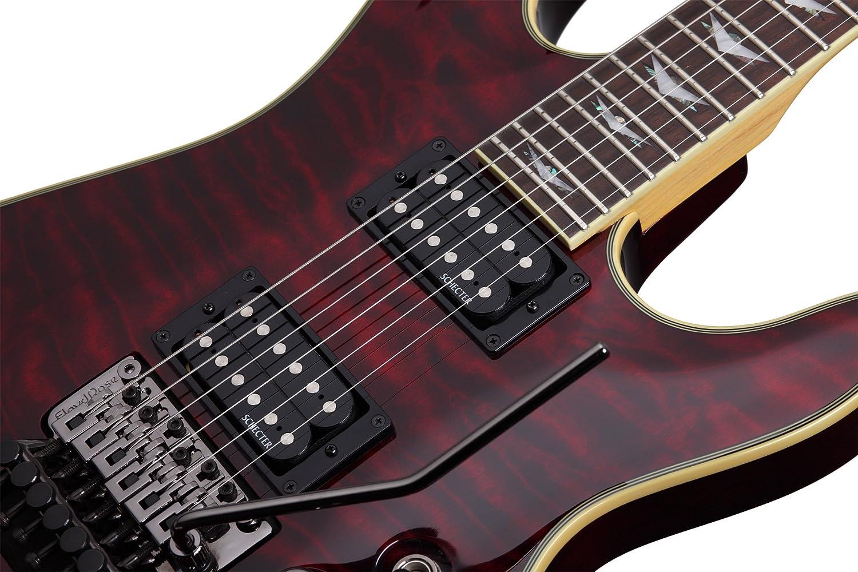 Schecter Omen extreme-fr guitarra eléctrica (See-Thru negro): Amazon.es: Instrumentos musicales
