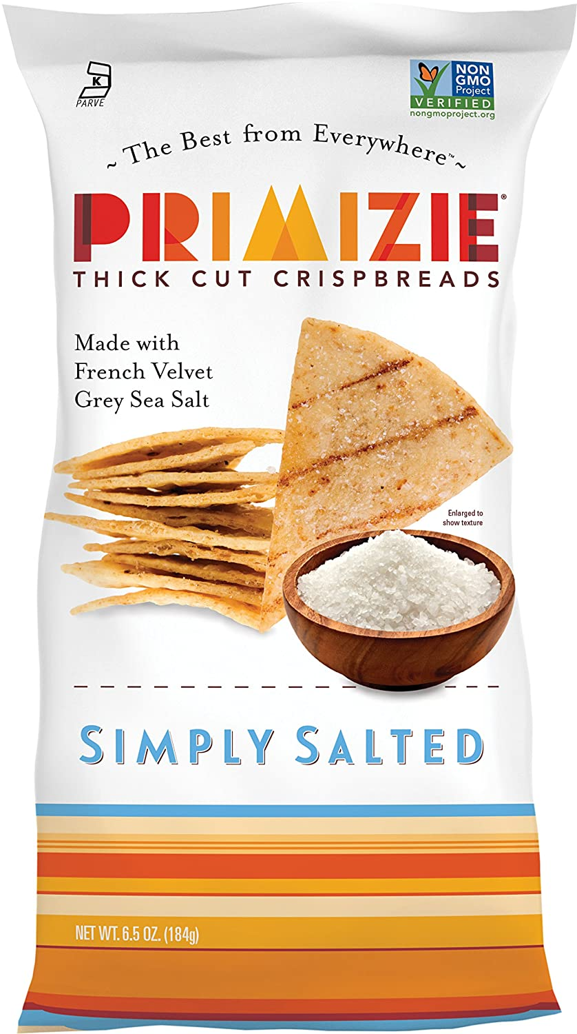 Amazon.com: Primizie Thick Cut Crispbread, Simply Salted, 6.5 Ounce (Pack of 12)